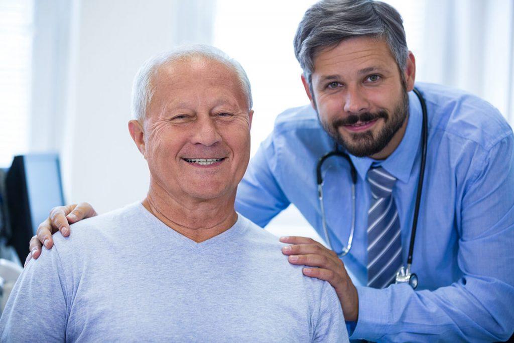 portrait male doctor patient